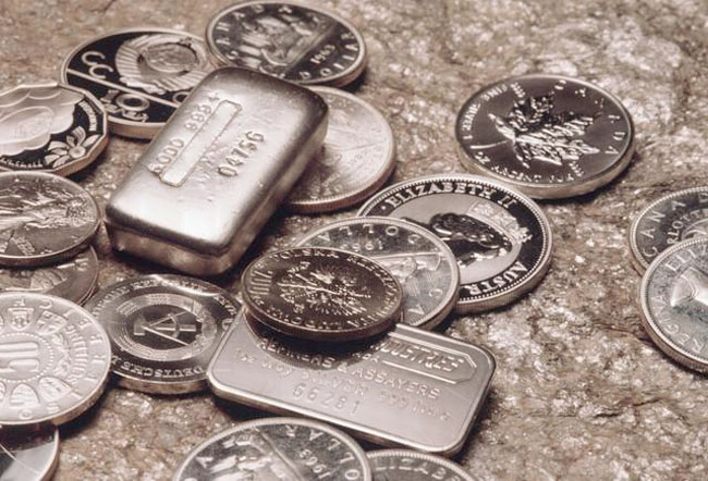 silver bullion and coins